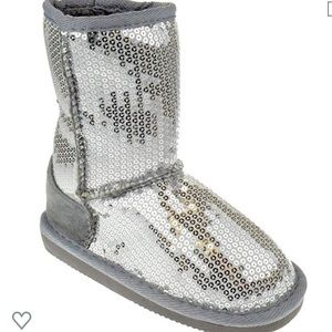 Other - Silver Sequin Little Kid Boot